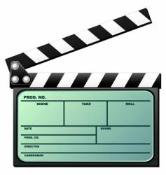 clapboard with LCD vector image