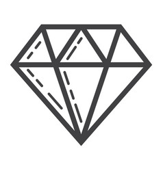 Diamond line icon business and finance gem sign vector