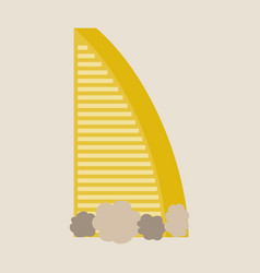 Dubai uae of burj al arab hotel burj al arab is vector