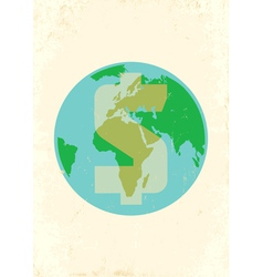 Earth money vector image