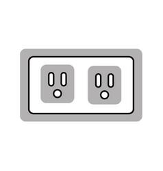 Energy socket isolated icon vector