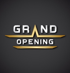 Eps10 grand opening text icon vector