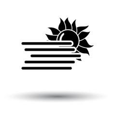 fog icon vector image vector image