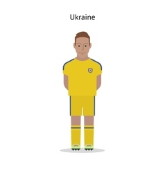 Football kit ukraine vector