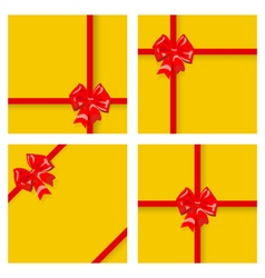 Gift boxes with ribbons and bows vector image vector image