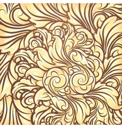 Golden Leaves Background vector image vector image
