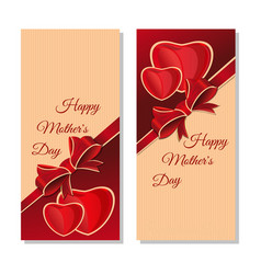 Happy mothers day holiday banners set vector