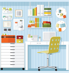 Home office office furniture store vector