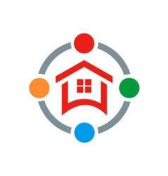 house shield protection logo vector image vector image