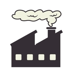 Industry factory working icon vector