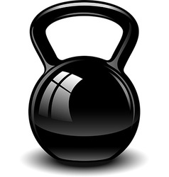 Kettle bell vector image