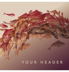 koi fish in natural elegant color vector image vector image