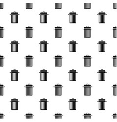 Metal trash can pattern vector