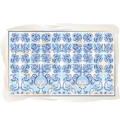 Portuguese old tiles vector
