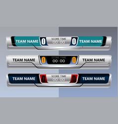 scoreboard object design vector image