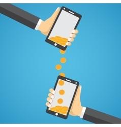 Sending and receiving money wireless vector