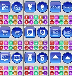 SMS Light bulb Bonus Shopping bag Hard drive No vector image