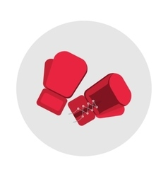 sports equipment red boxing gloves vector image vector image