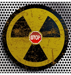 Stop Radiation vector image