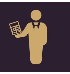 The financier avatar icon bank employee and vector