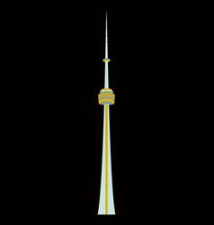 Tv cn tower in toronto famous world landmarks vector