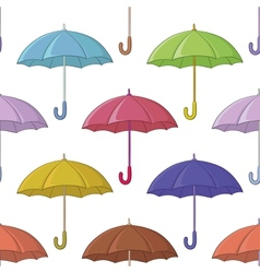 Umbrella seamless background vector image