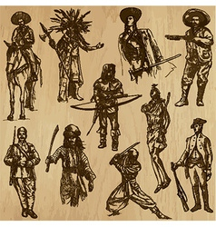 Warriors - An hand drawn pack vector image vector image