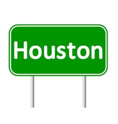 Houston green road sign vector