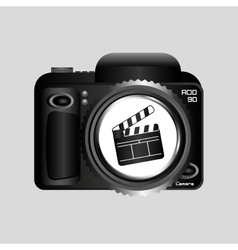 Digital photo camera clapper film pin vector