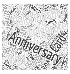 How to celebrate an anniversary word cloud concept vector