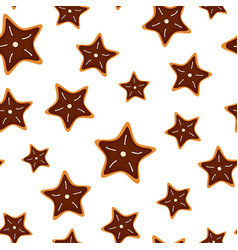 cookies seamless pattern vector image