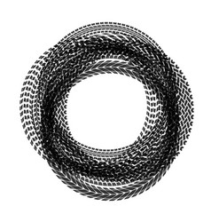 Circle tire tracks vector
