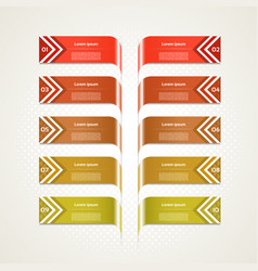 Business concept with 10 options vector