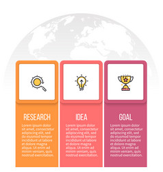 Business infographics presentation with 3 vector