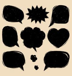 set of comic speech bubbles in trendy flat vector image