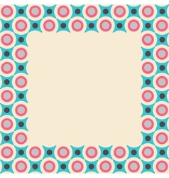 Card frame with geometrical pattern in retro vector image