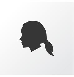 female icon symbol premium quality isolated vector image