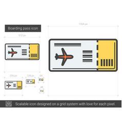 Boarding pass line icon vector