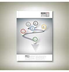 Arrow with pointer marks brochure flyer or vector