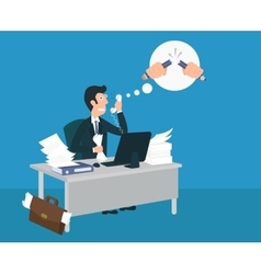 Stressed businessman vector