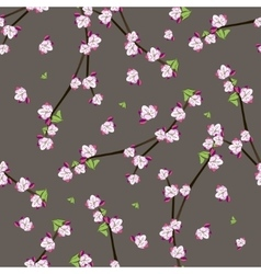 Seamless pattern with blooming apple twigs vector
