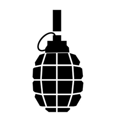 Hand grenade simple icon vector