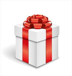 Gift box on white background vector image
