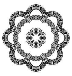 Flower zentangle style pattern vector