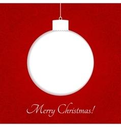 Set of color Christmas balls vector image