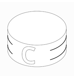 Captain armband icon isometric 3d style vector