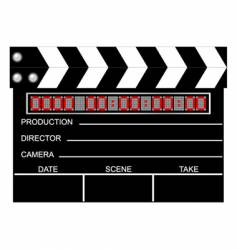 Digital closed clapboard vector
