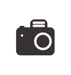 Black camera symbol icon design vector