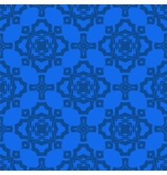 Blue Ornamental Seamless Line Pattern vector image