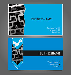 business card for repair waterpipe vector image vector image